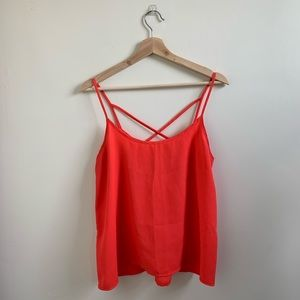 🌿Abercrombie & Fitch Coral Red Cross Back Tank